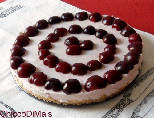 Torta fredda allo yogurt e ciliegie (ricetta cheesecake)
