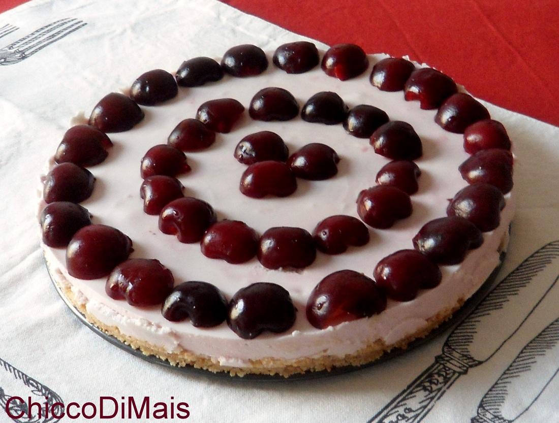 Torta fredda allo yogurt e ciliegie ricetta cheesecake il chicco di mais