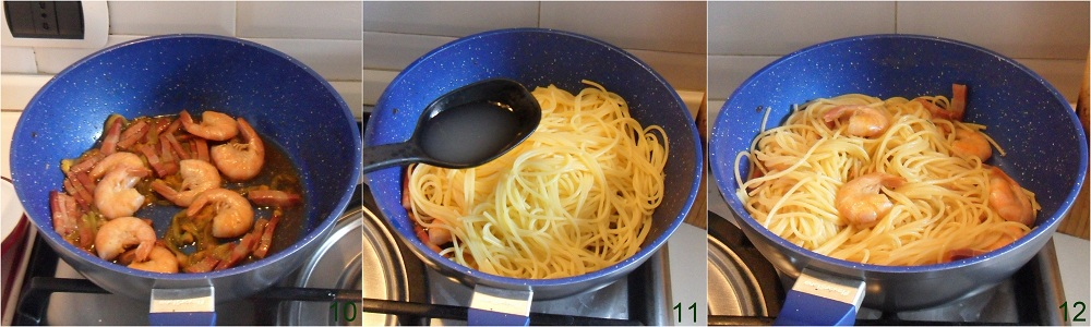 Pasta con gamberi bacon e fiori di zucca ricetta saporita il chicco di mais 4