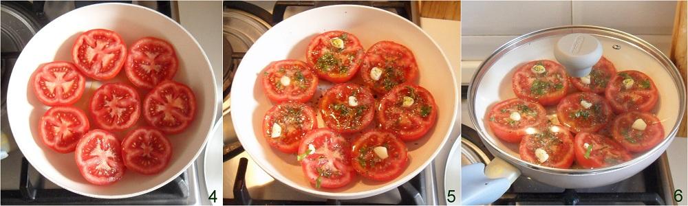 Pomodori in padella ricetta contorno freddo il chicco di mais 2