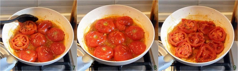Pomodori in padella ricetta contorno freddo il chicco di mais 3
