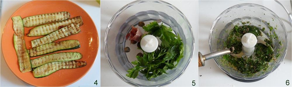 Zucchine grigliate in salsa verde ricetta contorno il chicco di mais 2