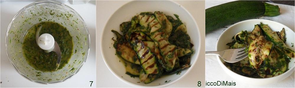 Zucchine grigliate in salsa verde ricetta contorno il chicco di mais 3