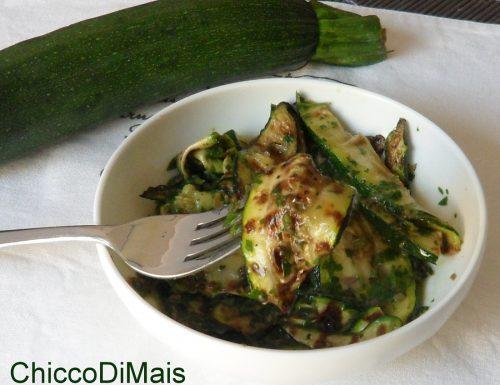 Zucchine grigliate in salsa verde (ricetta contorno)