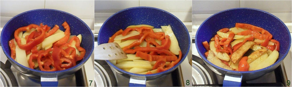 Contorno di peperoni e patate ricetta calabrese il chicco di mais 3