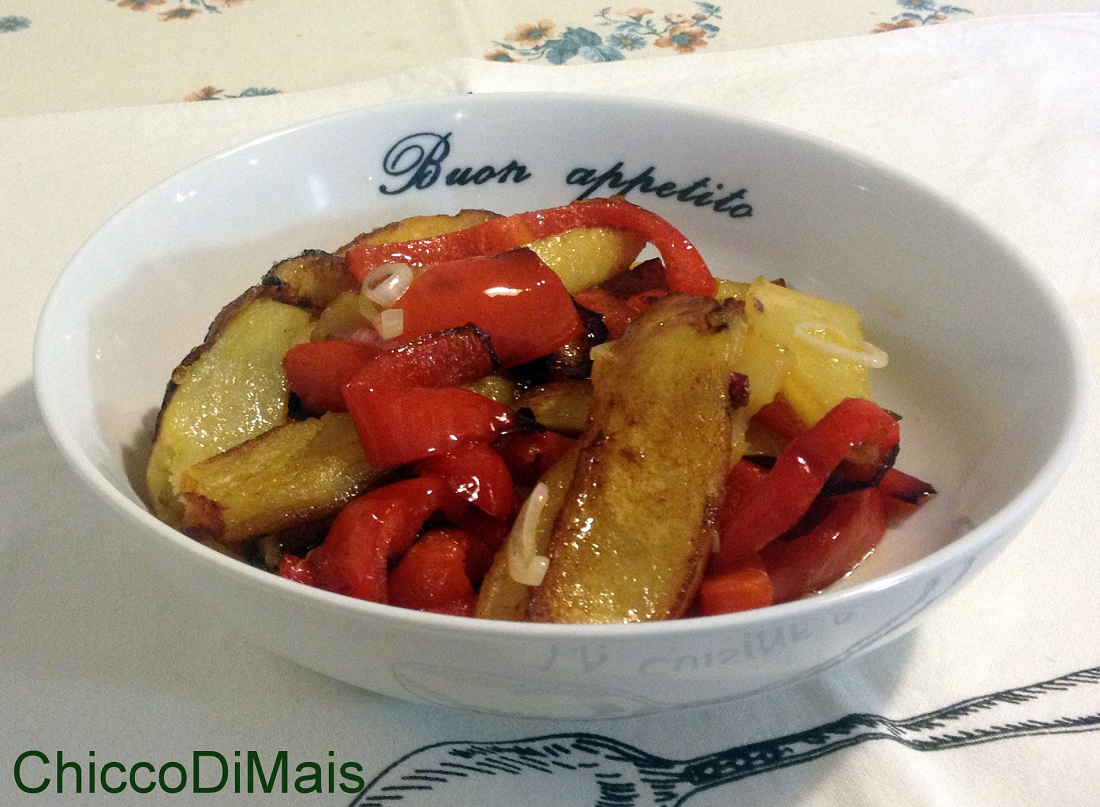 Menu di ferragosto 2014 ricette facili Contorno di peperoni e patate il chicco di mais