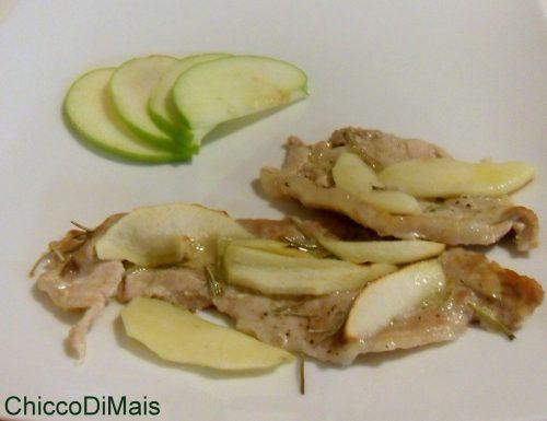 Fettine di maiale alla mela verde (ricetta al forno)