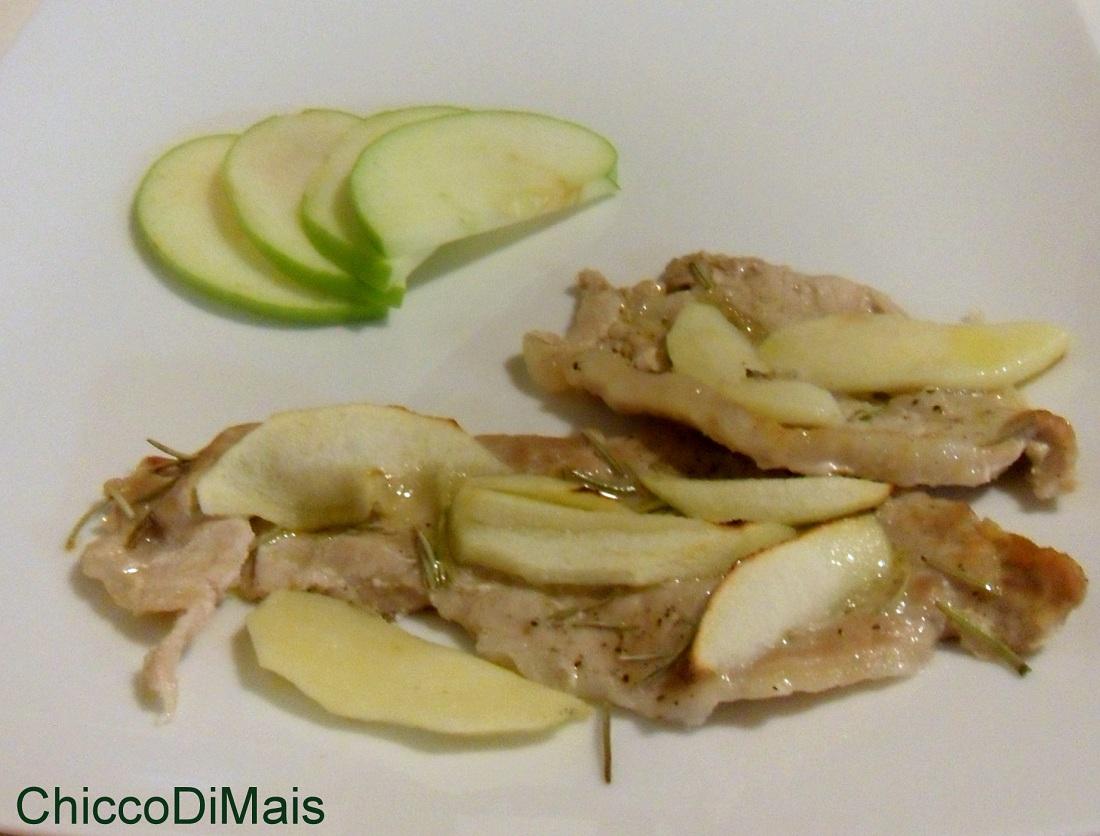 Fettine di maiale alla mela verde ricetta al forno il chicco di mais