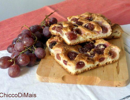 Focaccia all'uva (ricetta dolce senza glutine)