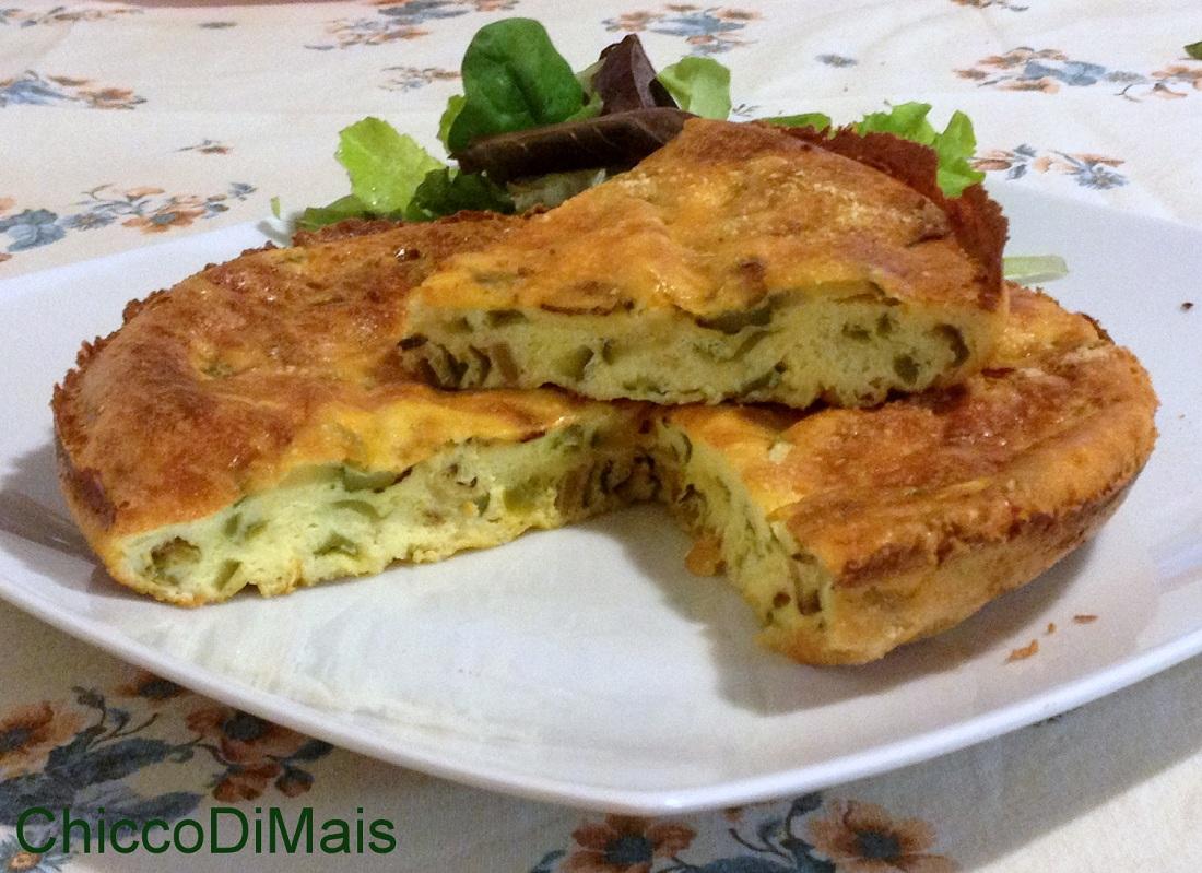 Frittata al forno con zucchine e friggitelli ricetta secondo il chicco di mais