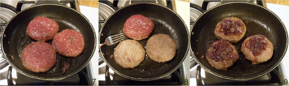 hamburger con cipolle caramellate ricetta facile il chicco di mais 3