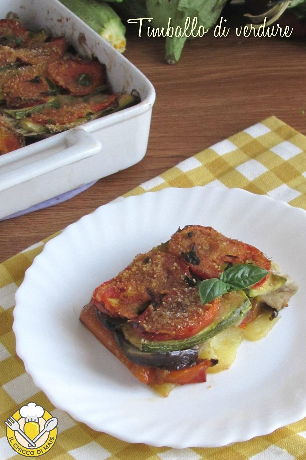 v_ timballo di verdure tutto a crudo ricetta vegana sformato di patate peperoni melanzane zucchine pomodori il chicco di mais