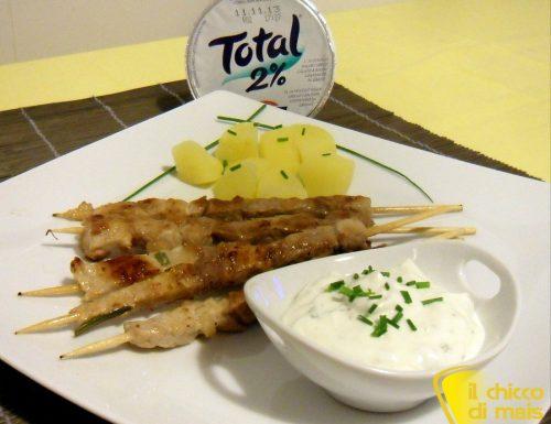 Arrosticini di agnello allo yogurt greco (ricetta light)