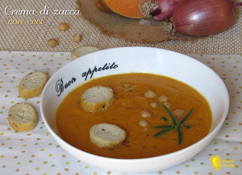 ricertte con la zucca Crema di zucca con ceci ricetta autunnale il chicco di mais