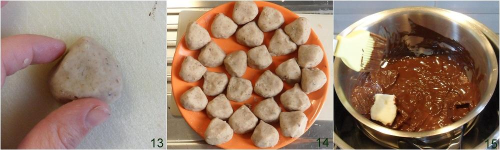 Dolcetti alle castagne e cioccolato ricetta fingerfood il chicco di mais 5