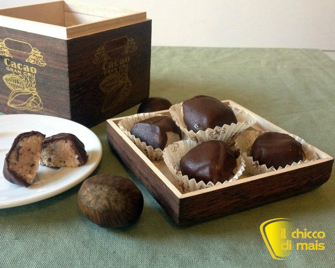 Dolcetti alle castagne e cioccolato ricetta fingerfood il chicco di mais