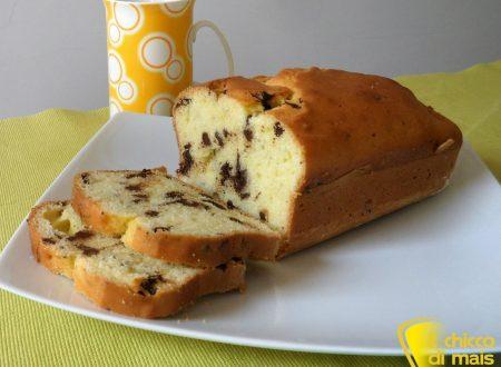 Plumcake con gocce di cioccolato (ricetta dolce)