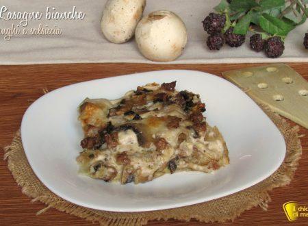 Lasagne bianche con funghi e salsiccia