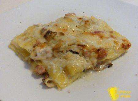 Lasagne bianche con funghi e salsiccia (ricetta primo)
