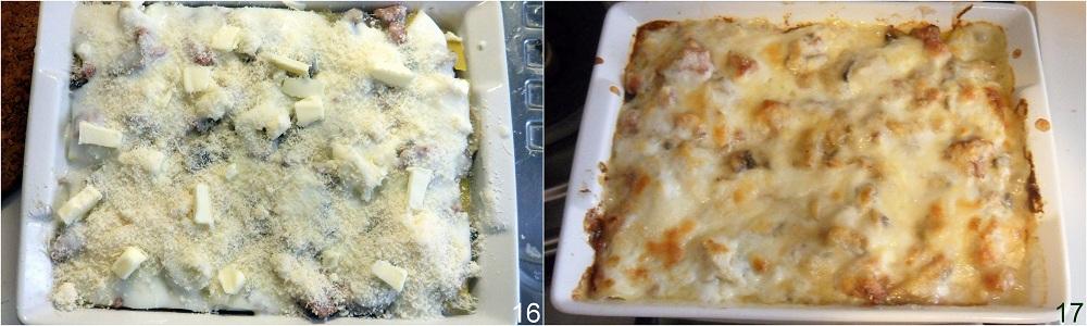 Lasagne bianche con funghi e salsiccia ricetta primo il chicco di mais 6