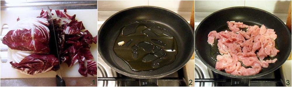 Straccetti al radicchio e olive ricetta veloce il chicco di mais 1