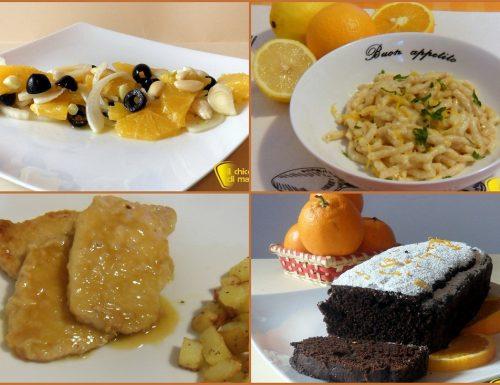 Il menu della salute: raccolta di ricette con le arance