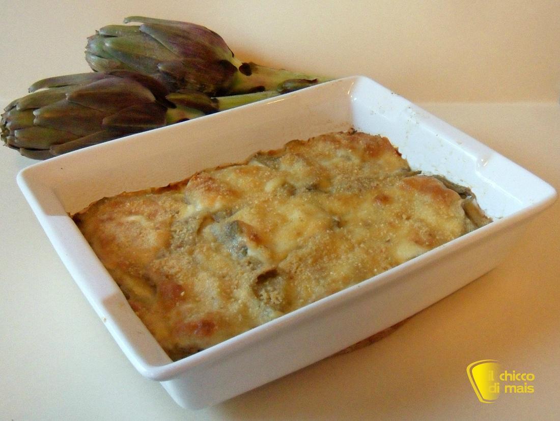 10 antipasti per natale 2014 ricette facili Parmigiana di carciofi e patate il chicco di mais