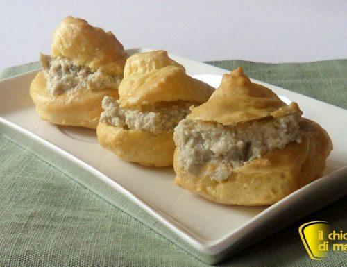 Bignè salati con mousse di carciofi (ricetta antipasto)