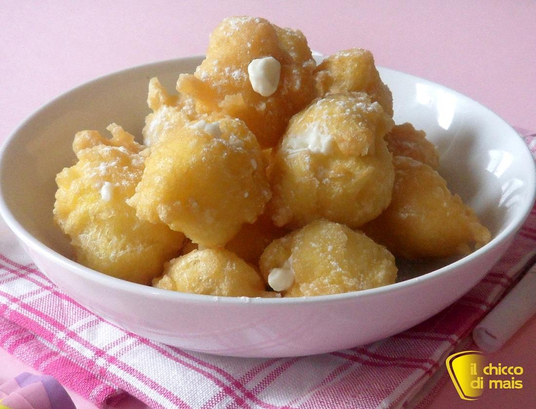 raccolta di ricette dolci di carnevale castagnole ripiene il chicco di mais
