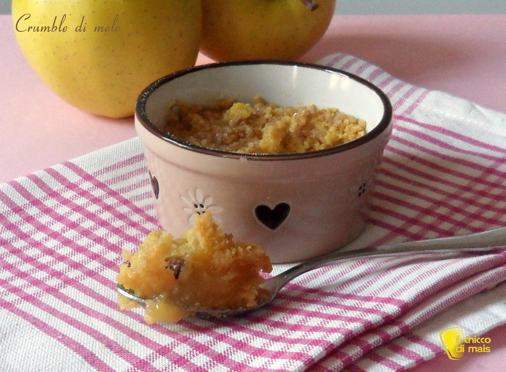 Crumble di mele ricetta dolce inglese il chicco di mais