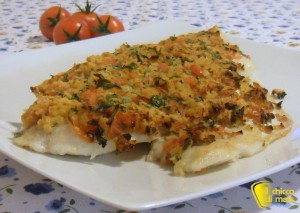 secondi veloci filetto di pesce gratinato