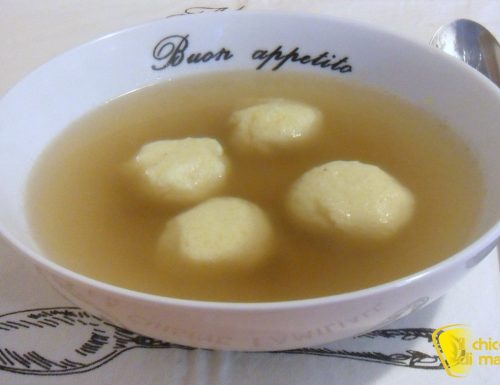 Gnocchi di semolino in brodo (ricetta primo)