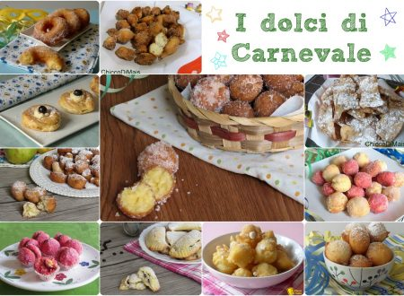 Raccolta di ricette: dolci di carnevale