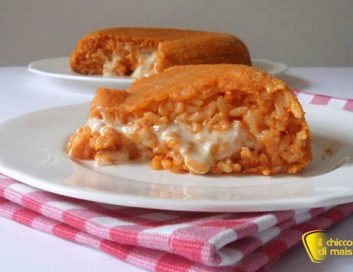 Sformato di riso al pomodoro e formaggio (ricetta primo)