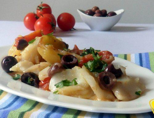 Baccalà con le olive (ricetta casalinga)