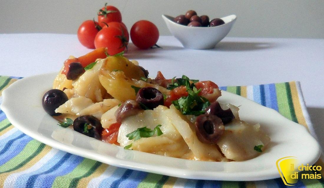 10 secondi di pesce per natale 2014 Baccalà con le olive ricetta casalinga il chicco di mais
