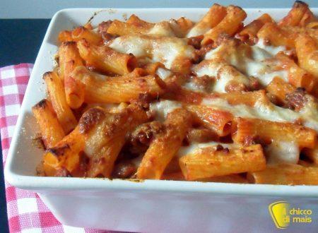 Pasta al forno con ragù di salsiccia (ricetta primo)