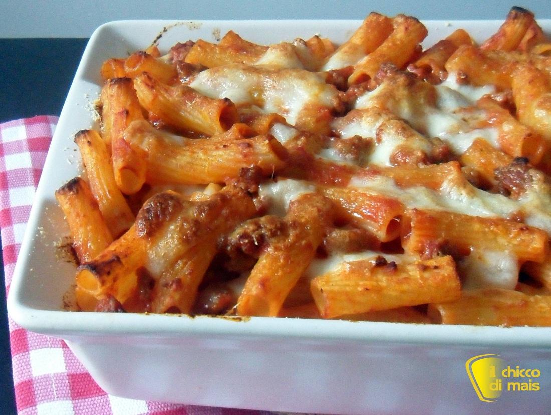 Pasta al forno con ragù di salsiccia ricetta primo il chicco di mais
