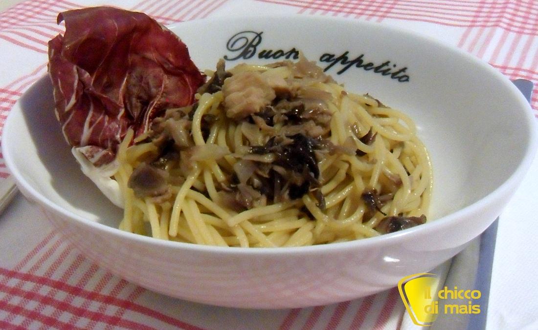 Pasta con tonno e radicchio ricetta veloce il chicco di mais