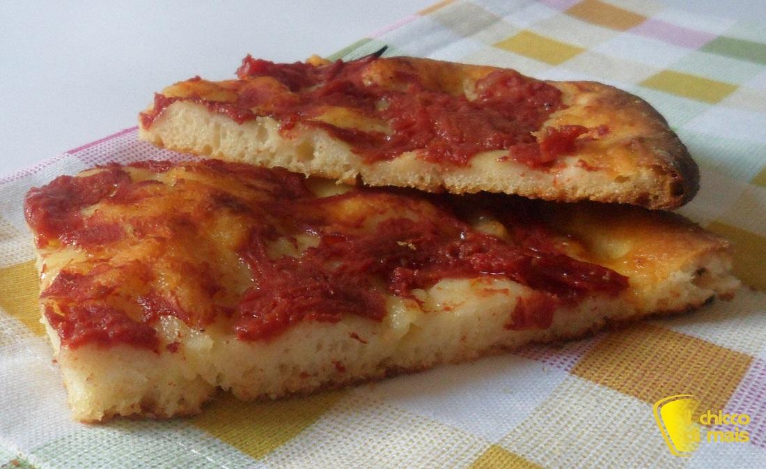 Pizza rossa romana ricetta senza glutine il chicco di mais