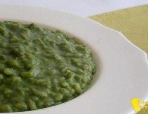 Risotto verde agli spinaci e stracchino (ricetta senza burro)
