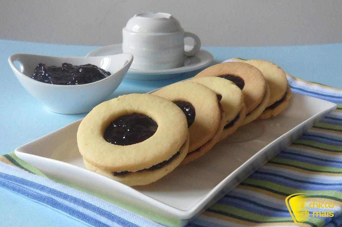 Biscotti occhio di bue ricetta facile il chicco di mais