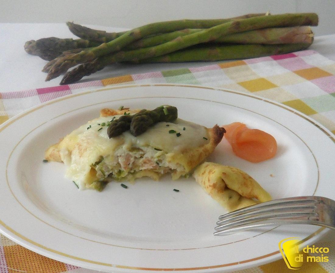 10 primi di pesce per Natale Fagottini di crepes con asparagi e salmone il chicco di mais