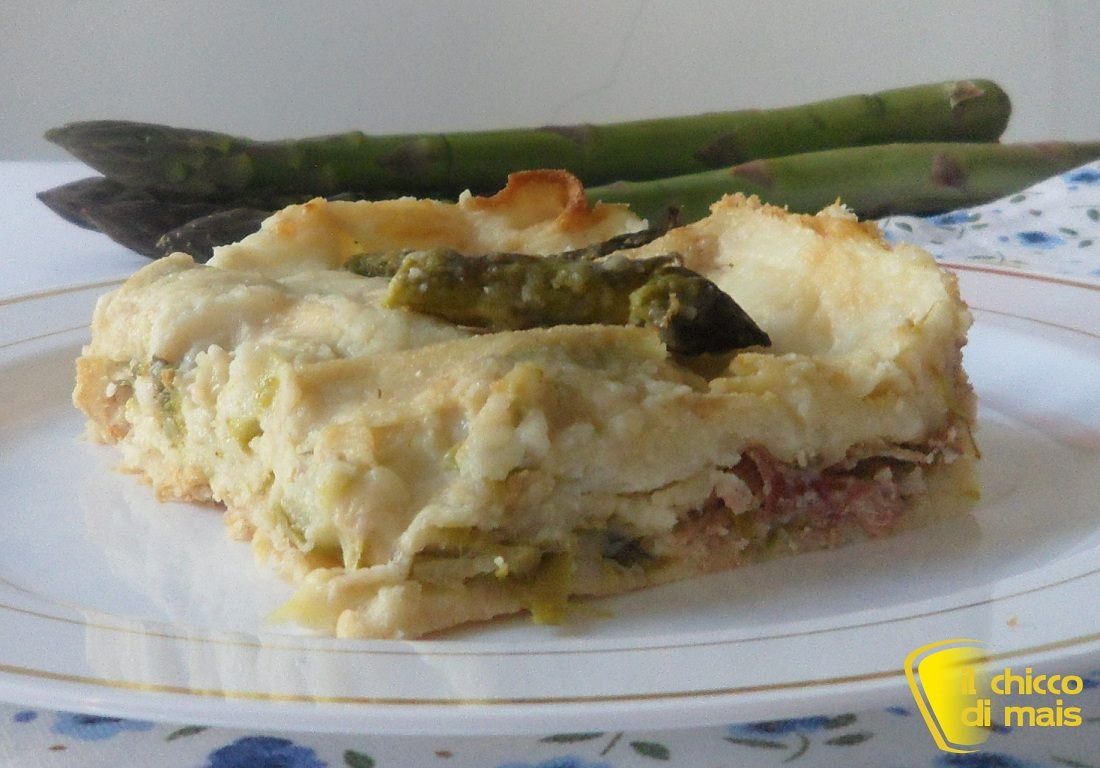 Lasagne con asparagi e speck ricetta di primavera il chicco di mais