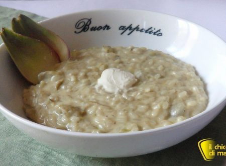Risotto con carciofi e caprino (ricetta vegetariana)