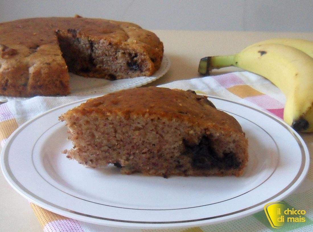 Torta senza uova con banana e cioccolato ricetta vegan il chicco di mais