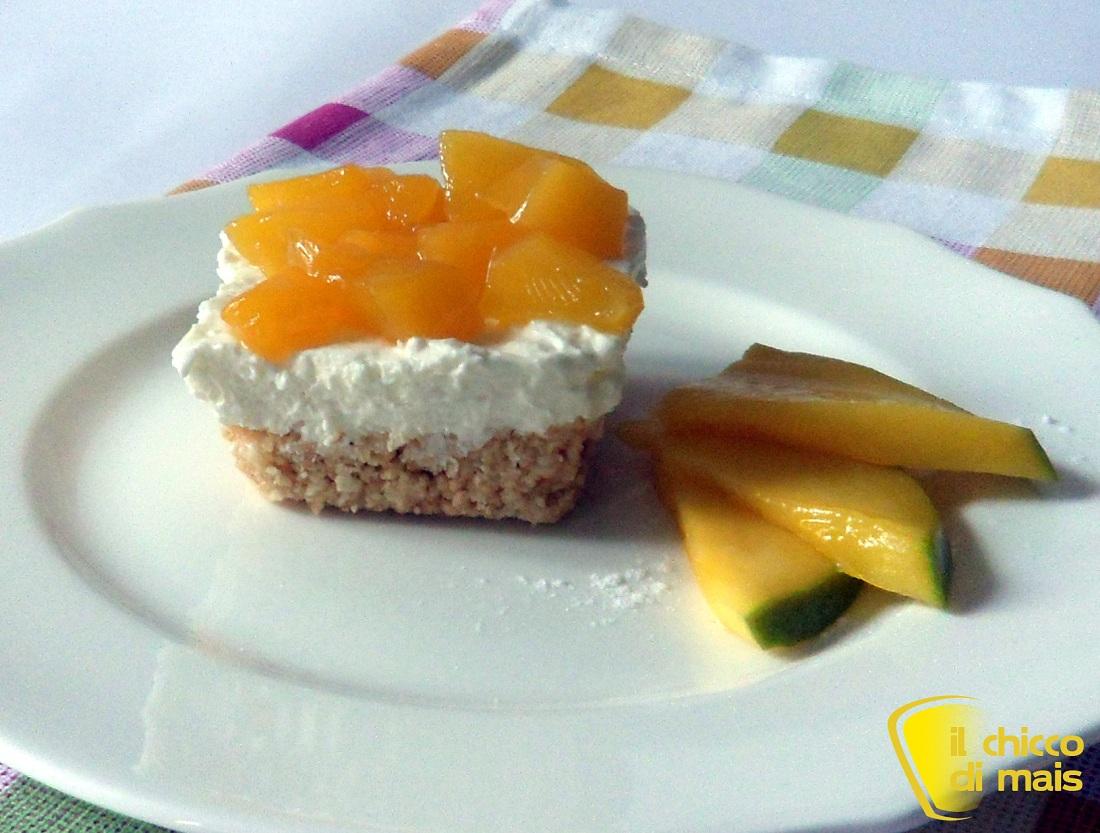 Cheesecake al mango ricetta senza cottura il chicco di mais
