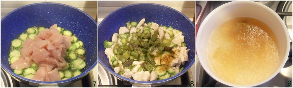 Couscous con pollo asparagi e zucchine ricetta piatto unico il chicco di mais 3