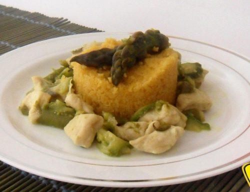 Couscous con pollo asparagi e zucchine (ricetta piatto unico)