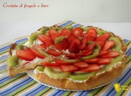Crostata di fragole e kiwi (ricetta dolce)